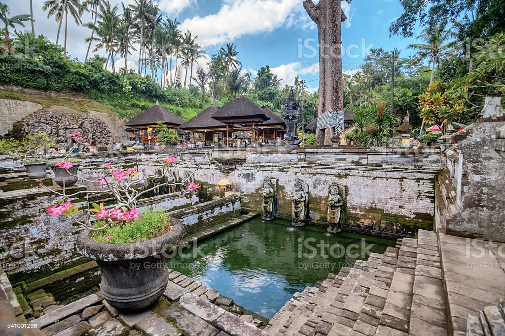 Holiday in Bali, Indonesia - Goa Gajah Temple stock photo