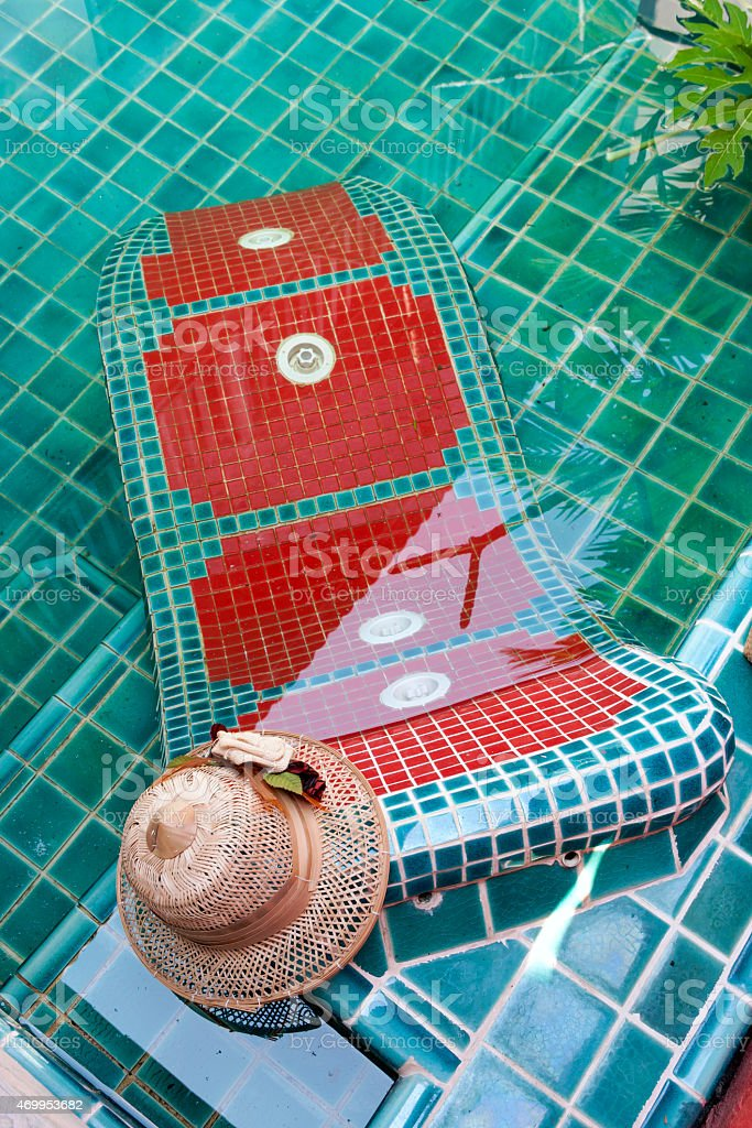 Holiday in Jacuzzi royalty-free stock photo