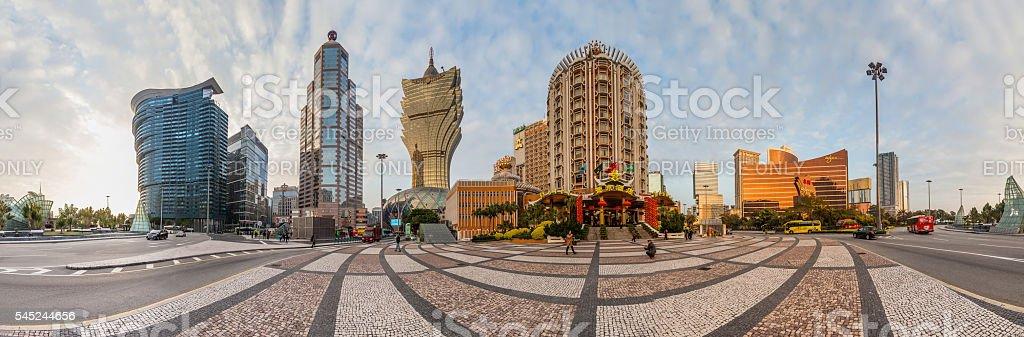 Holiday in Macao - Grand Lisboa Hotel stock photo