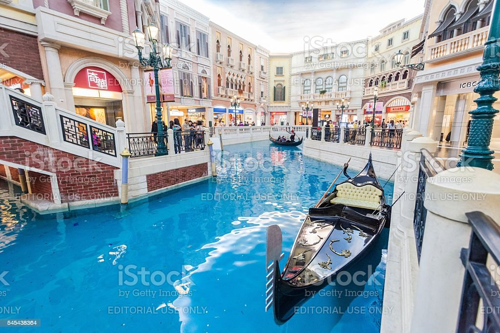 Holiday in Macao - The Venetian stock photo