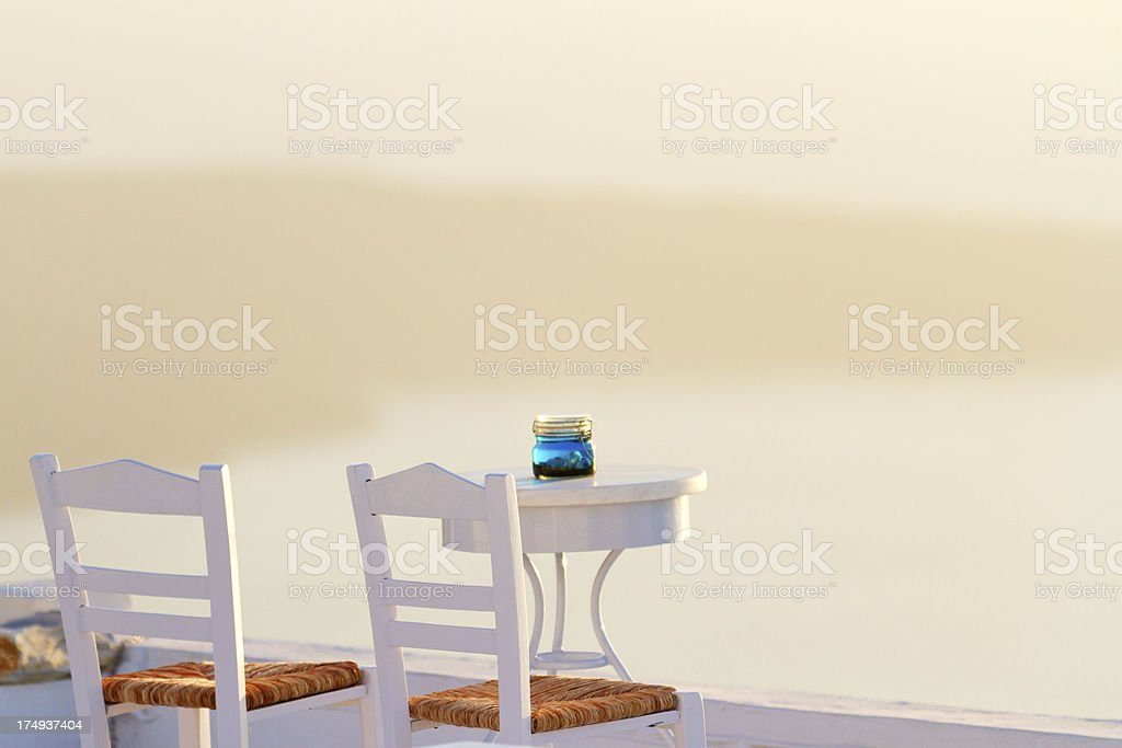 Holiday in Santorini royalty-free stock photo
