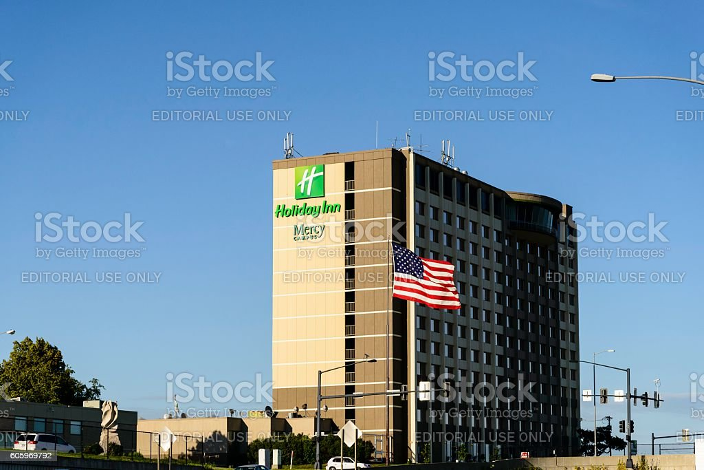 Holiday Inn Des Moines, Iowa stock photo