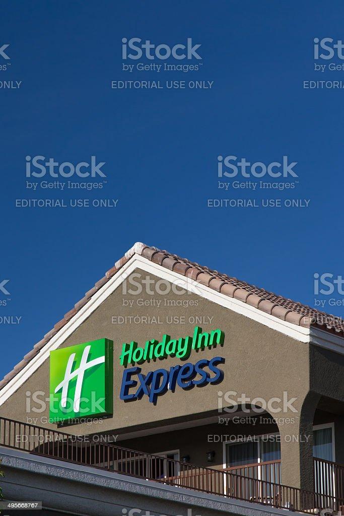 Holiday Inn Express Sign royalty-free stock photo