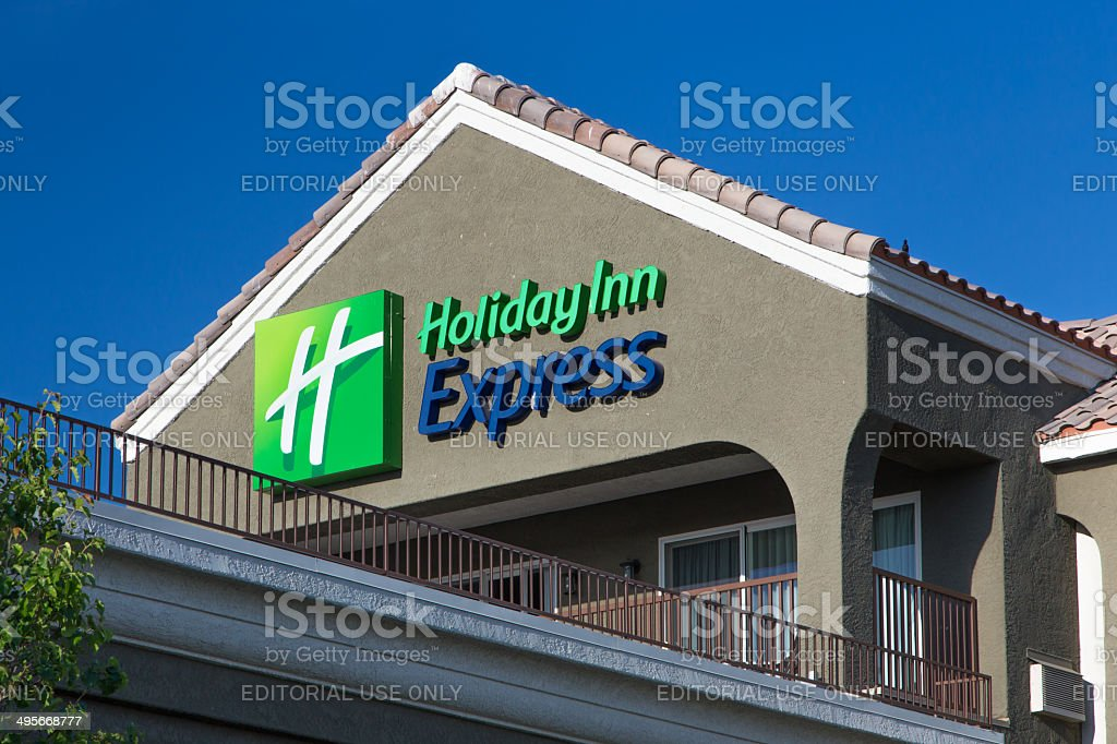Holiday Inn Express Sign stock photo