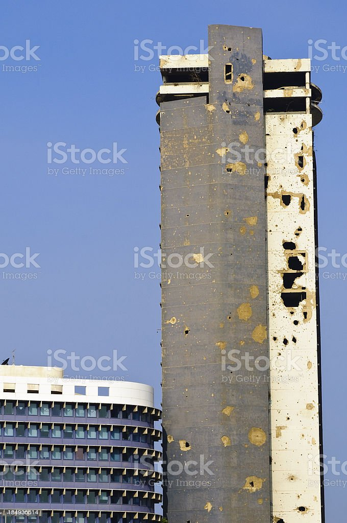 Holiday Inn in Beirut, Lebanon stock photo