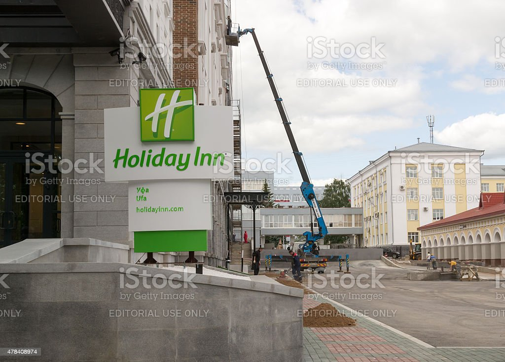 Holiday Inn in Ufa Russia stock photo
