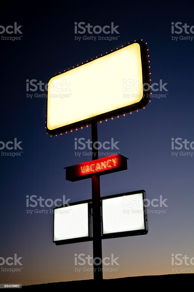 Holiday inn neon sign glowing in the night royalty-free stock photo