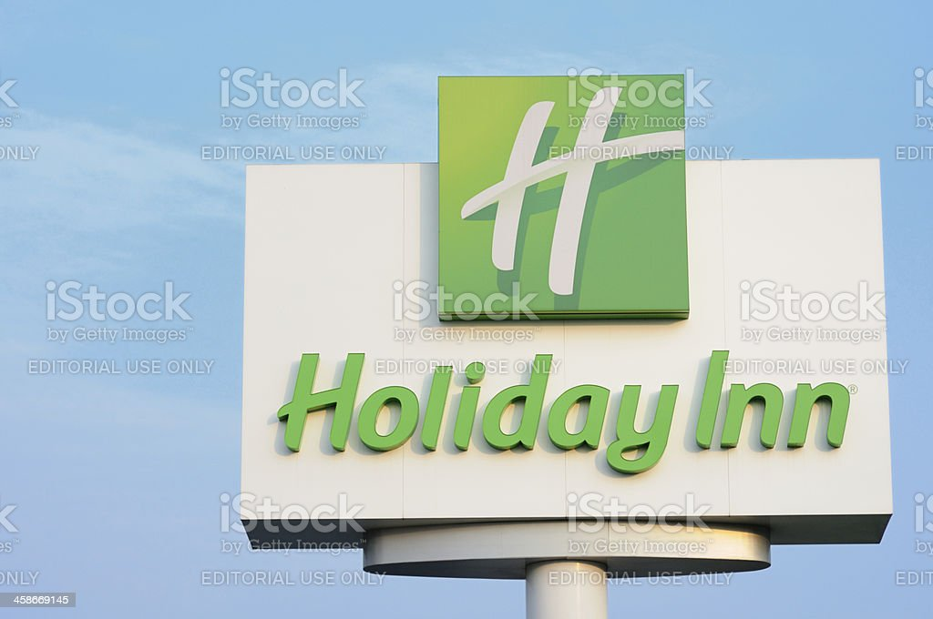 Holiday Inn sign stock photo
