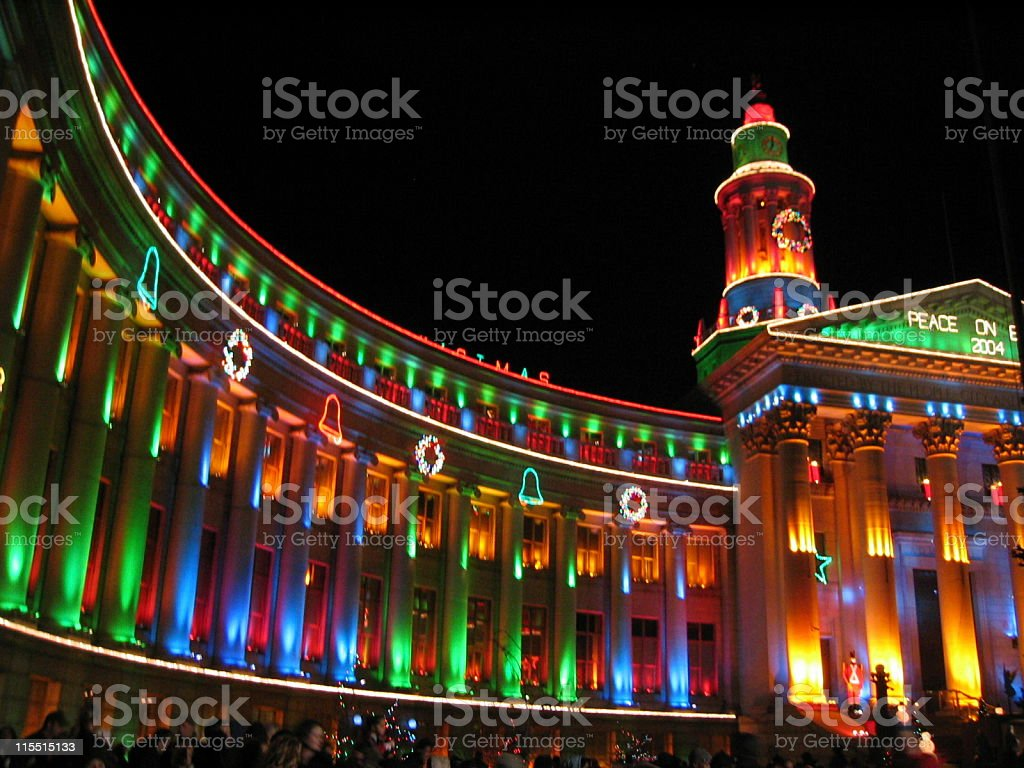 Holiday Lights In Denver stock photo