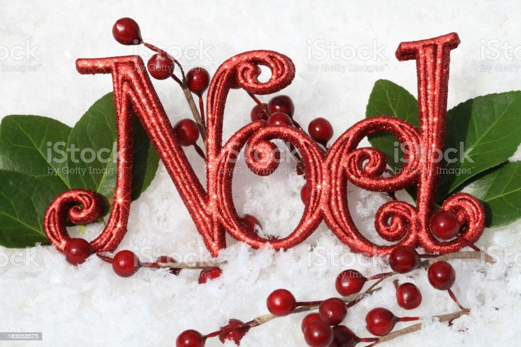 Holiday Noel stock photo
