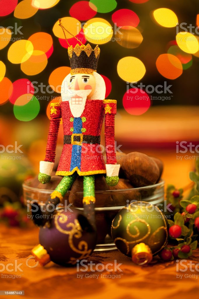 Holiday Nutcracker stock photo