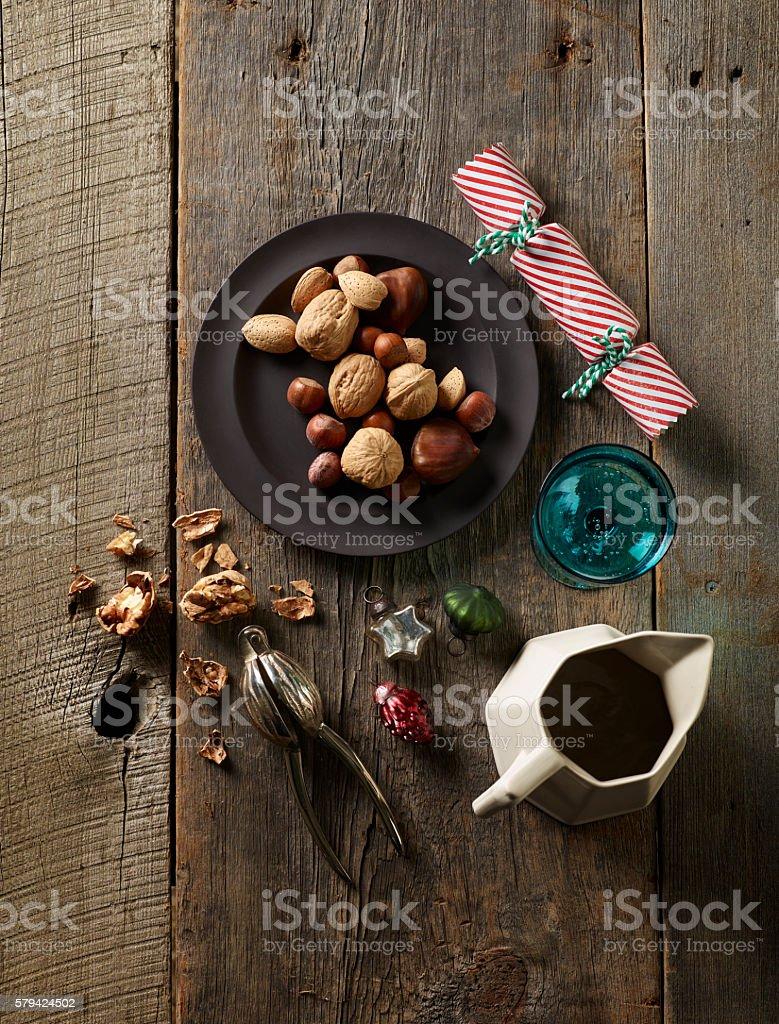 Holiday Nuts stock photo