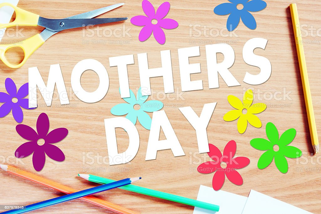 Holiday of Mothers day stock photo