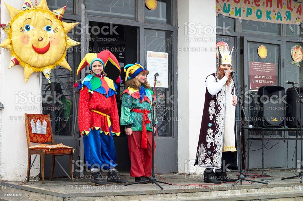 Holiday of the Shrovetide in Russia stock photo