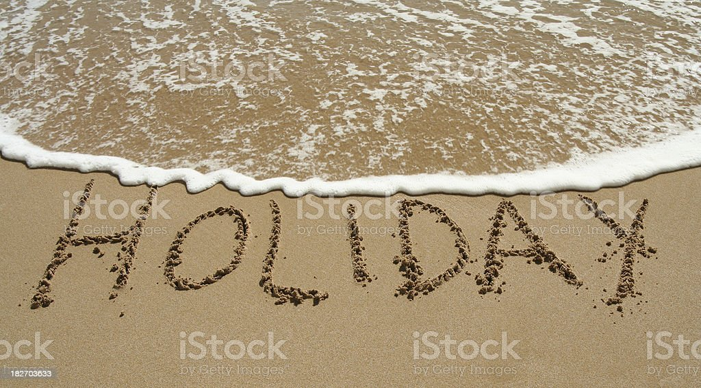 Holiday on the beach royalty-free stock photo