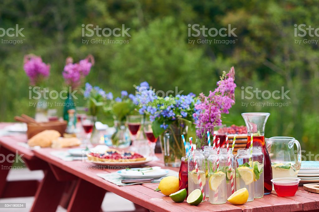 Holiday outdoors stock photo
