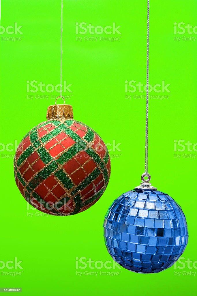 Holiday party ornaments royalty-free stock photo