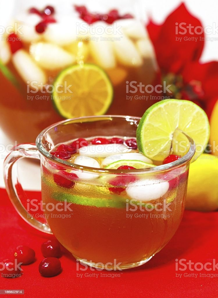 Holiday party punch royalty-free stock photo