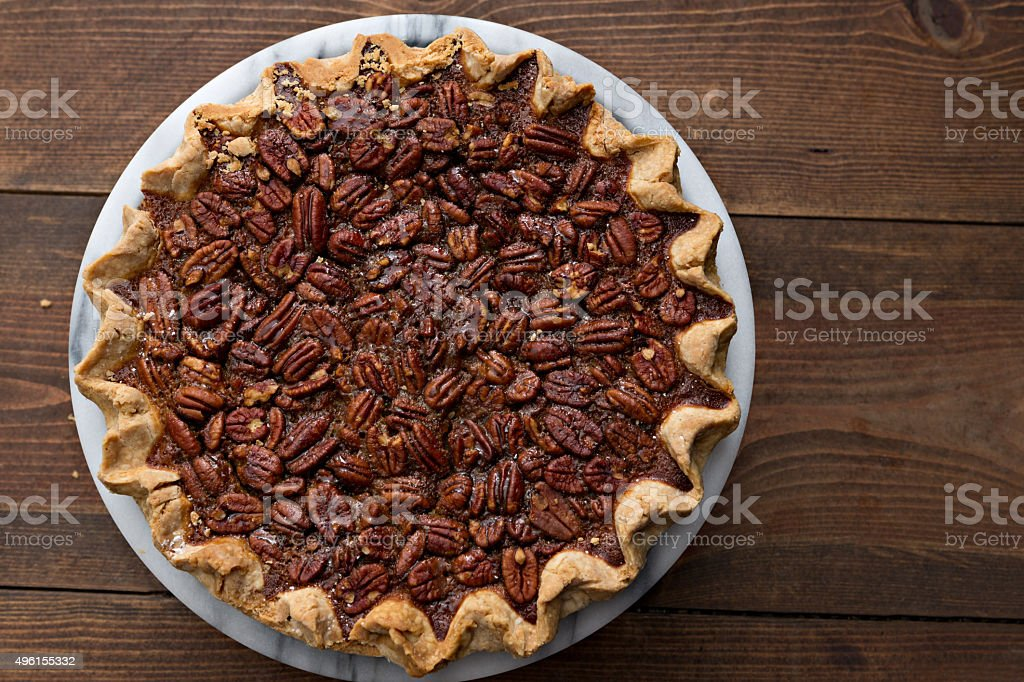 Holiday Pecan Pie stock photo