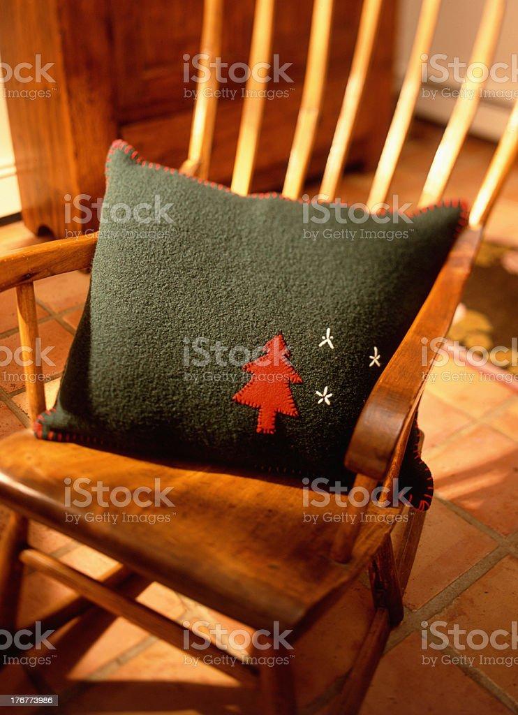 Holiday Pillow royalty-free stock photo
