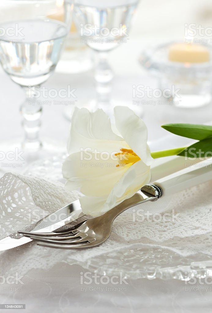 holiday place setting royalty-free stock photo