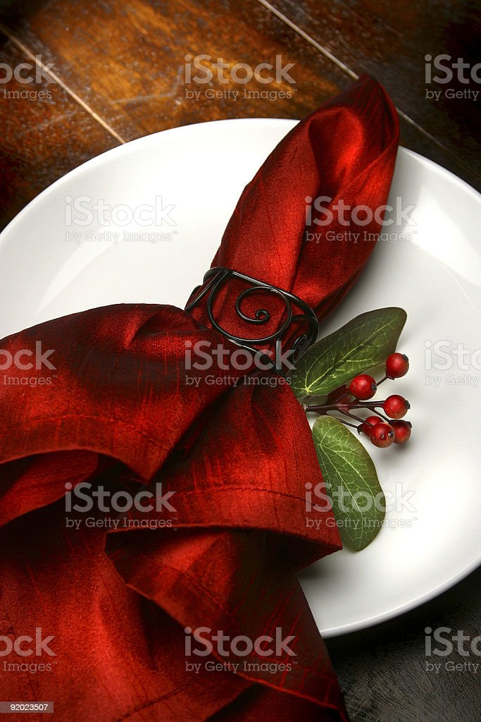 Holiday Plate royalty-free stock photo