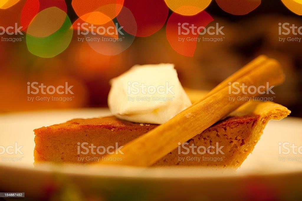 Holiday Pumpkin Pie stock photo