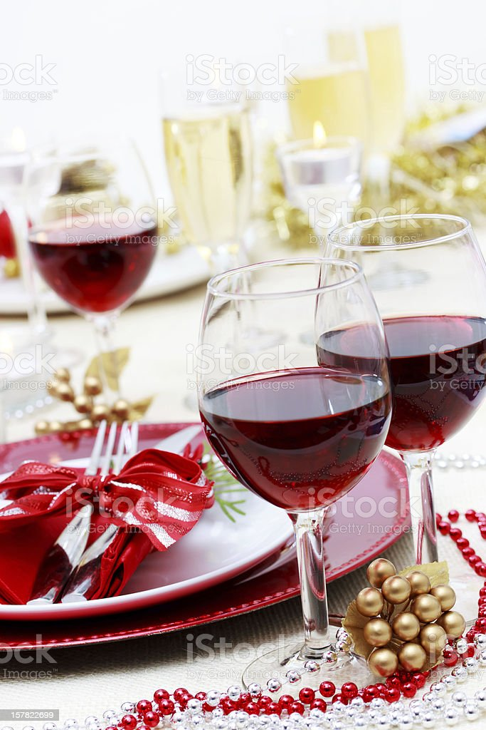 Holiday Red Wine royalty-free stock photo
