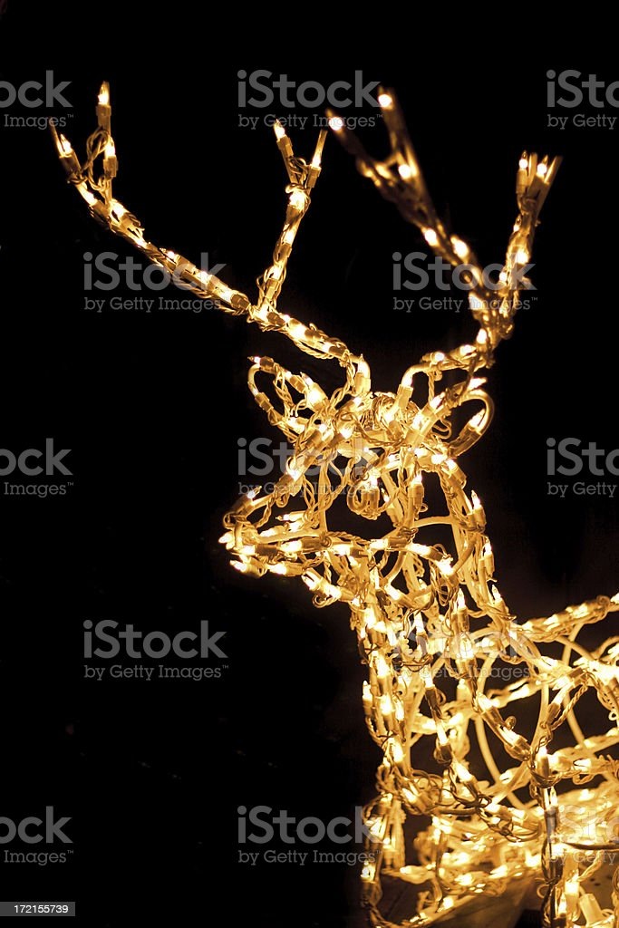 Holiday Reindeer Lights royalty-free stock photo