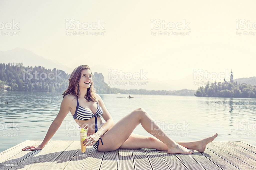 Holiday relaxation royalty-free stock photo