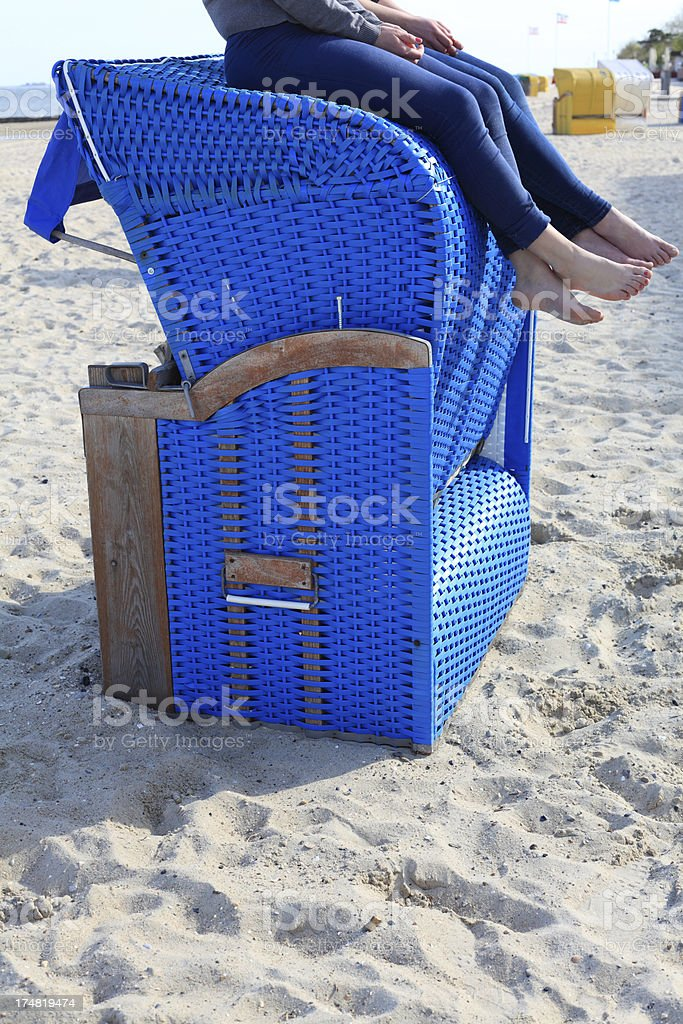 holiday relaxing on top of a beach chair royalty-free stock photo