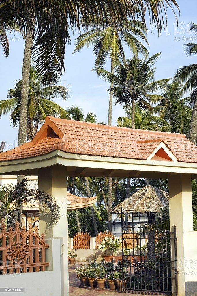 holiday resort Kerala royalty-free stock photo