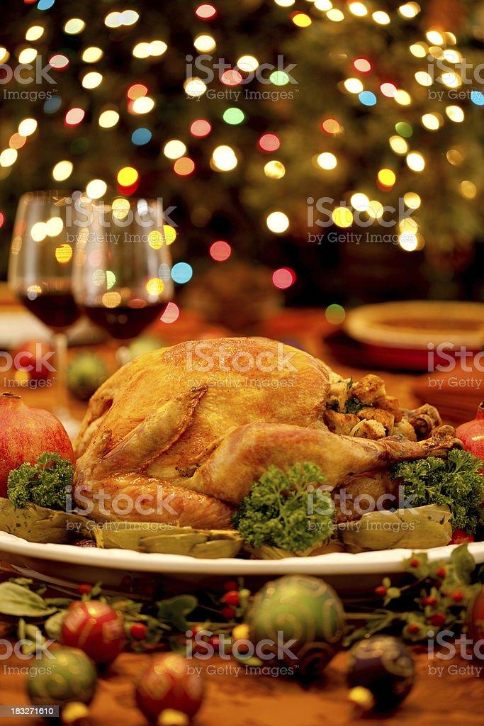 Holiday Roasted Turkey stock photo