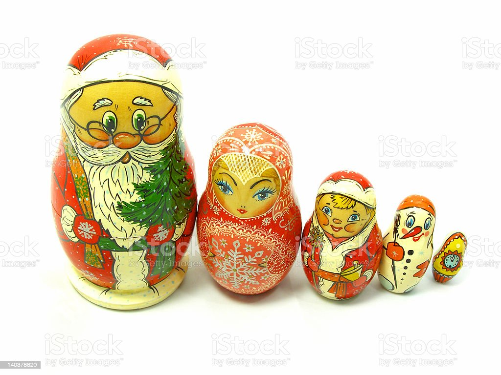 Holiday Russian Nesting Dolls royalty-free stock photo