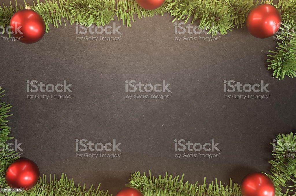 Holiday Season board frame stock photo