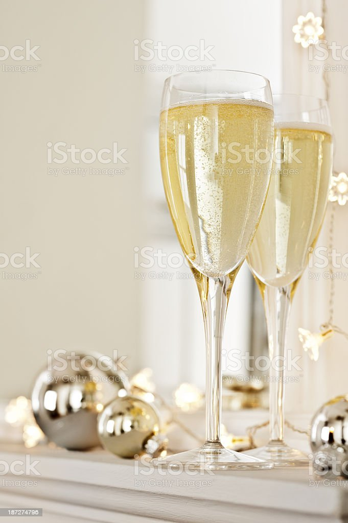 Holiday Season Champagne royalty-free stock photo