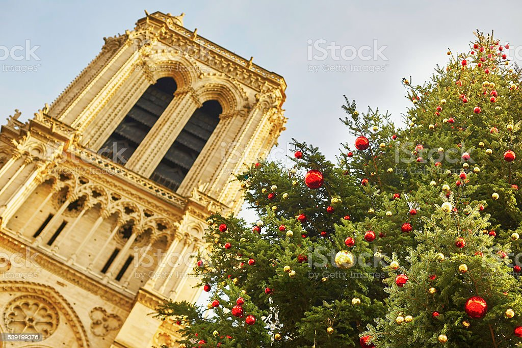Holiday season in Paris stock photo