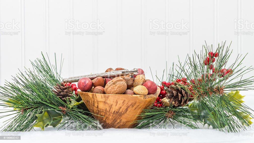 Holiday Season Mixed Nuts stock photo