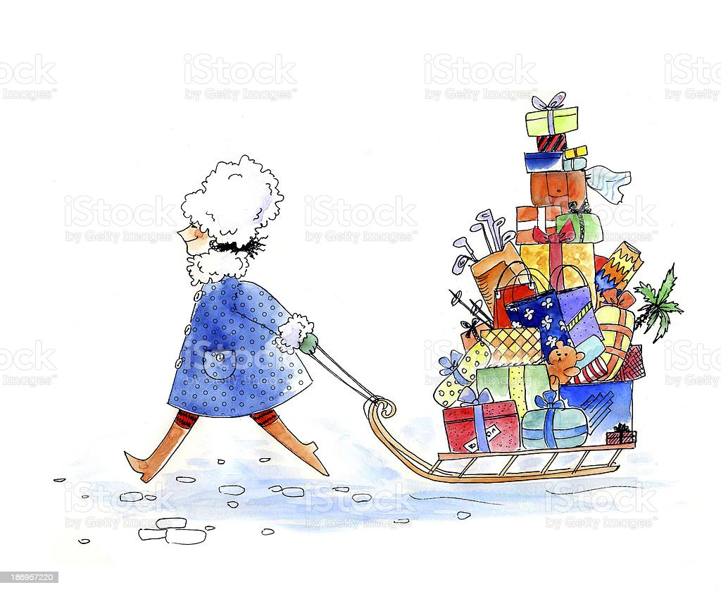 Holiday shopping royalty-free stock photo