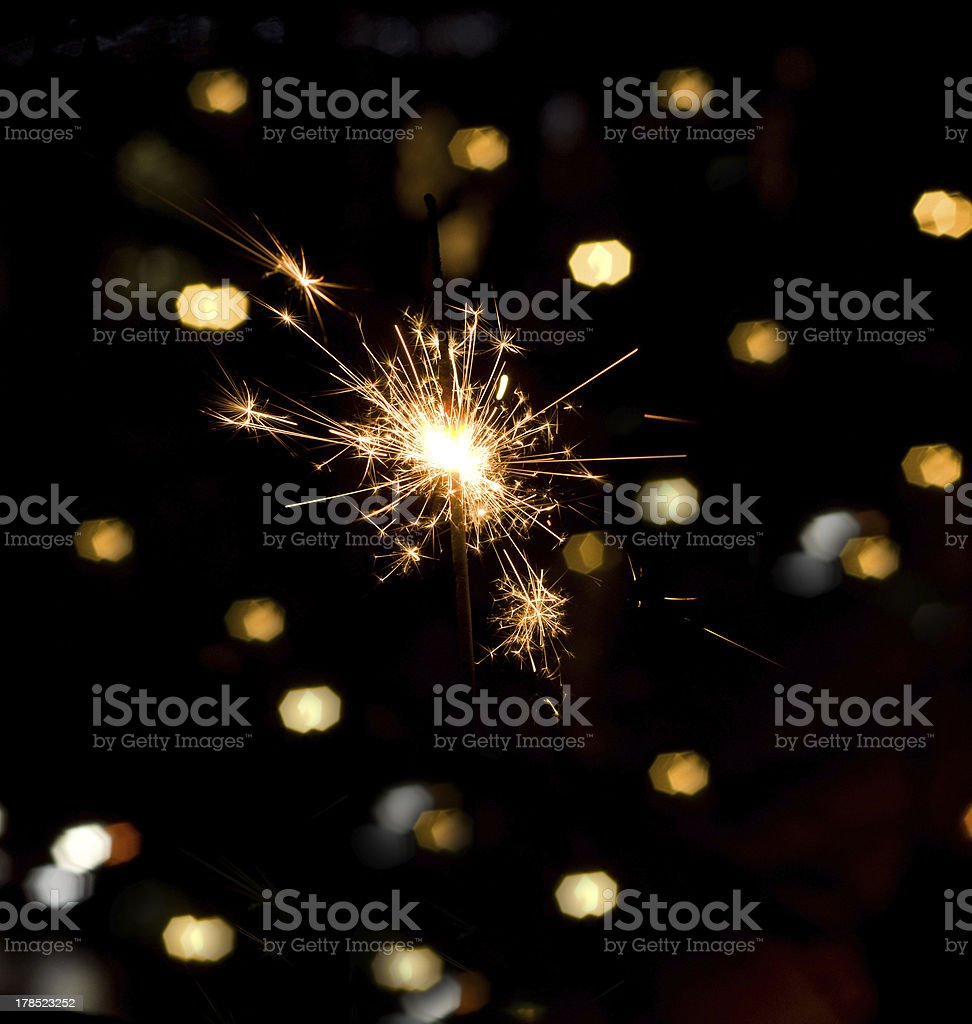 Holiday sparkler royalty-free stock photo