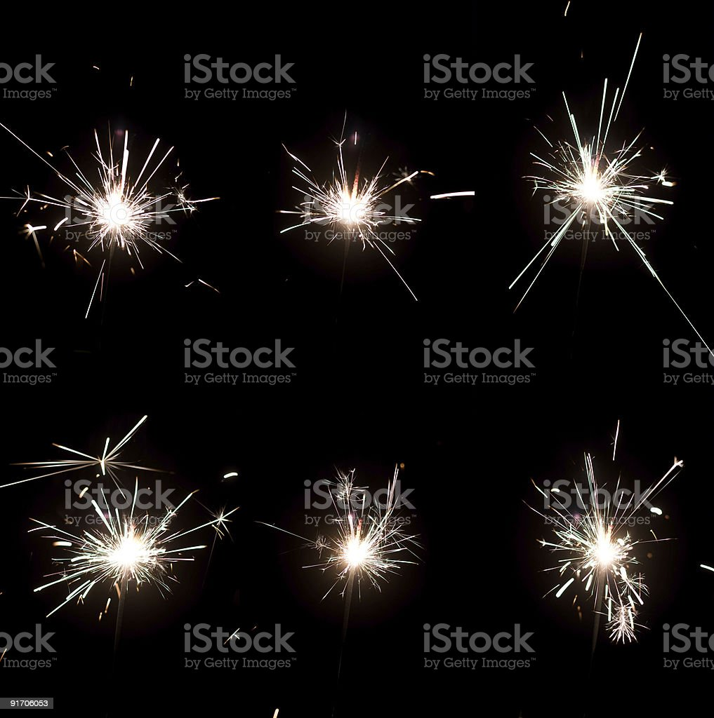 Holiday sparkler stock photo