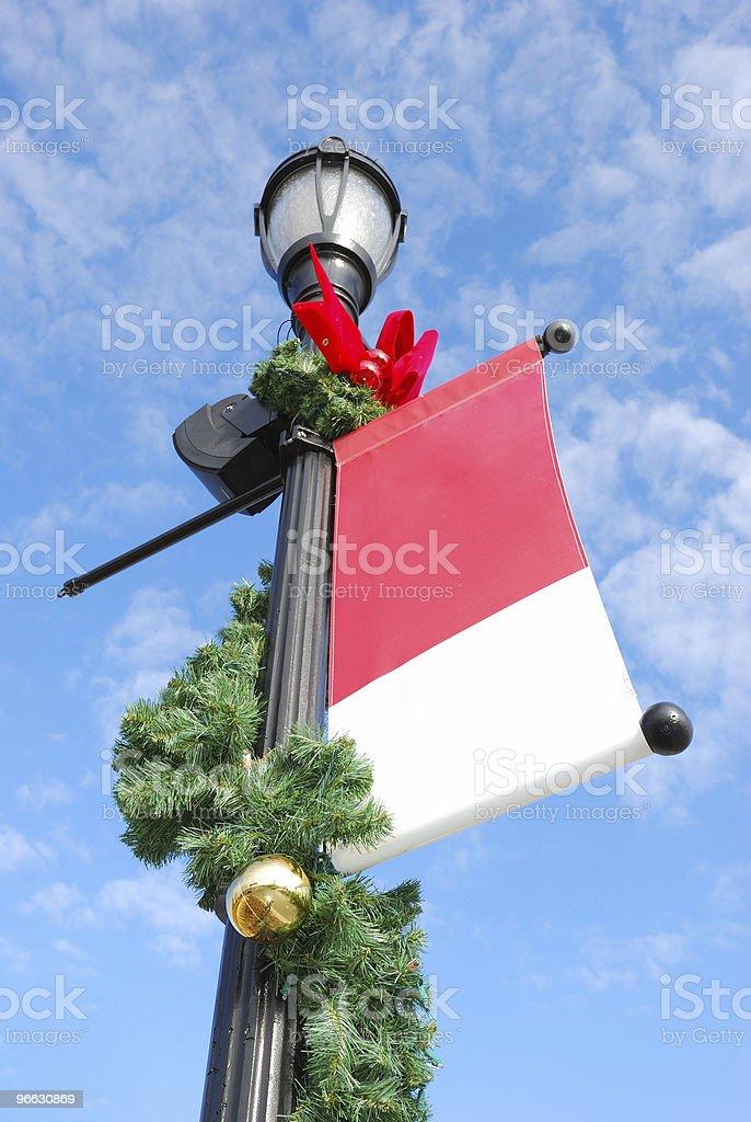 holiday streetlight royalty-free stock photo