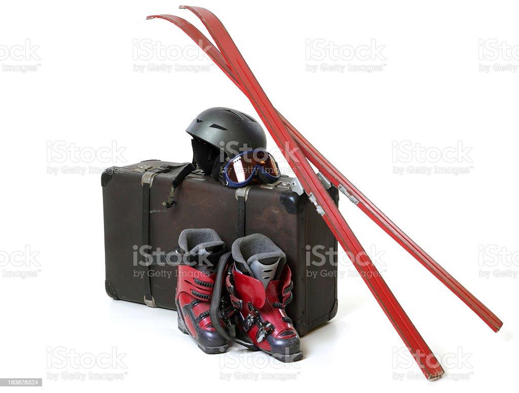 Holiday Suitcase - Skiing stock photo