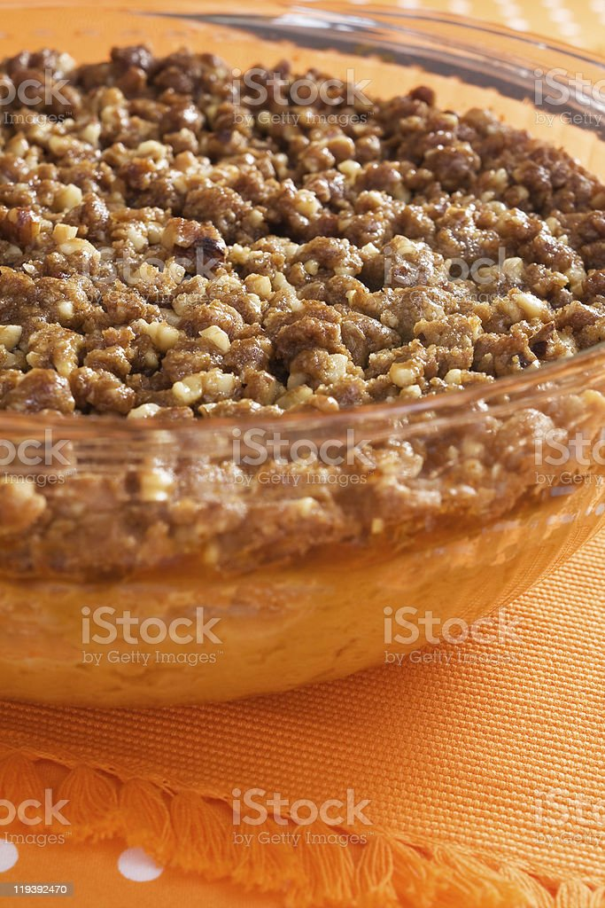 Holiday Sweet Potato Casserole stock photo