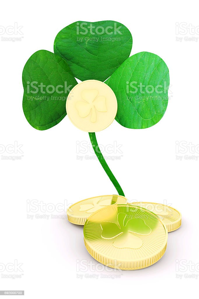 Holiday symbol of St. Patrick's. 3d illustration stock photo
