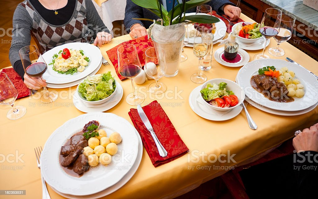 Holiday table royalty-free stock photo