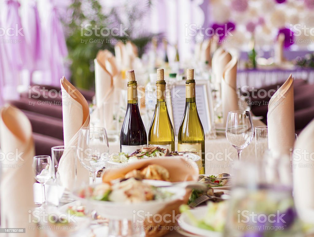 holiday table stock photo
