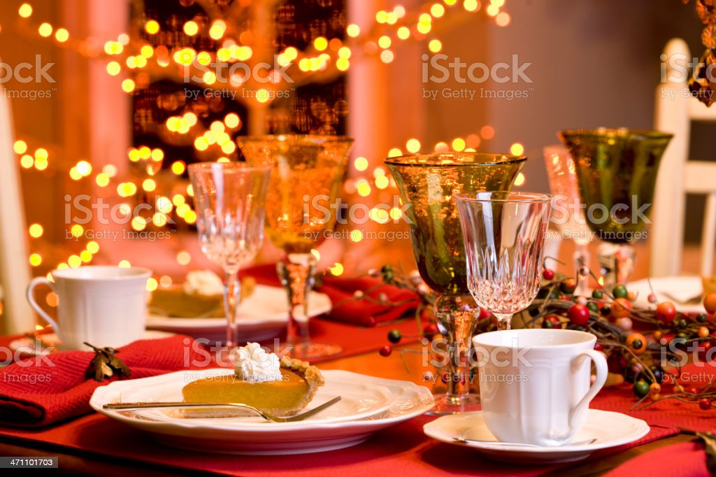 Holiday Table (XXL) stock photo