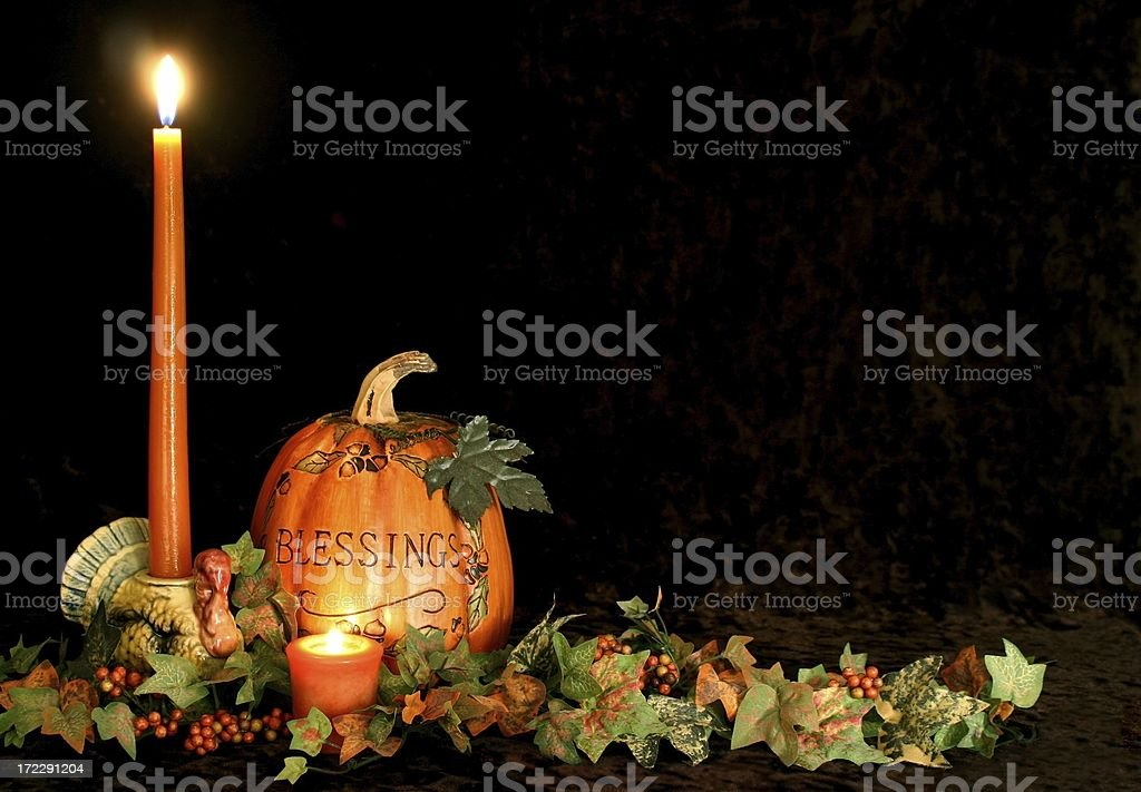 Autumn or Thanksgiving table decoration with copy spaceClick on image...