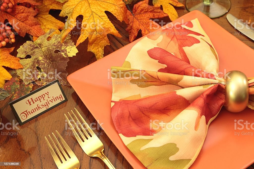Thanksgiving Table setting in fall colors